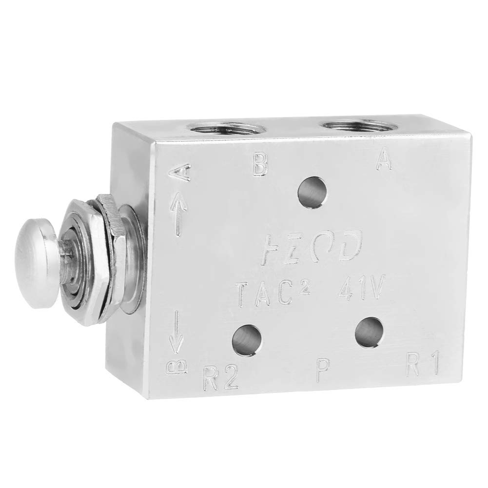 2 Position 3 Way Air Pneumatic Knob Control Toggle Valve by Qiterr