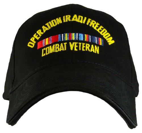 Military Caps Operation Iraqi Freedom Combat Veteran Direct Embroidered ()