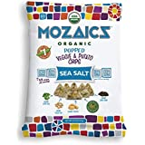 Mozaics Organic Popped Veggie & Potato Chips- Healthy snack, under 100 calories, better than veggie straws or stix - gluten free - 0.75oz single serve bags (Sea Salt, 24-count)