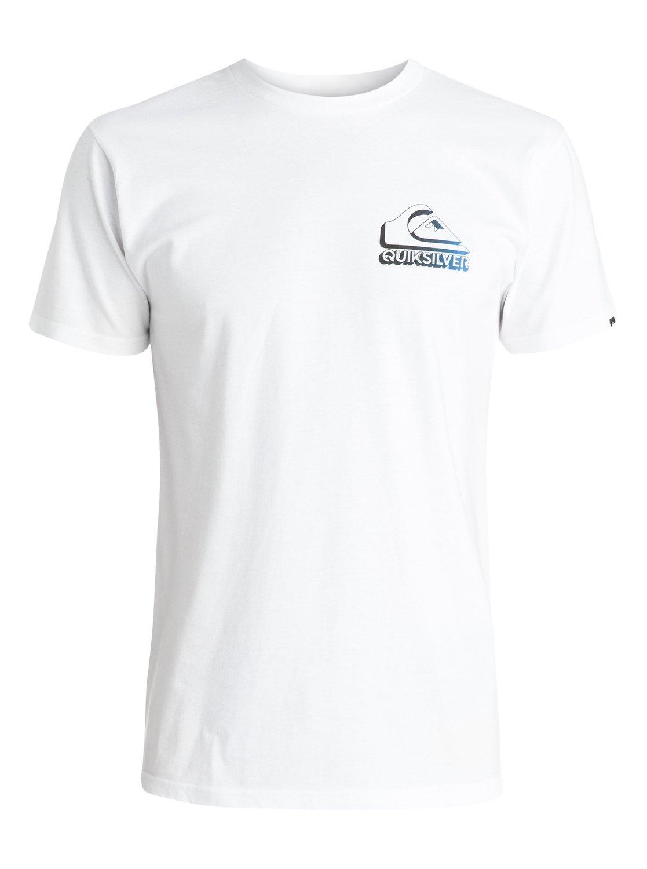 Quiksilver Men's 3 Dee T-Shirt, White, Medium