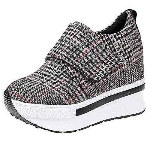 Zeppa Sneakers casual Scarpe Heeled Marrone Sportive Outdoor Moda Piattaforma Confortevole Da Ginnastica Donna vAZKwqOwf