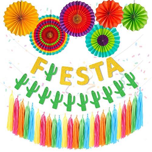 Fiesta Party Supplies Fiesta Paper Fans Cacti Banner