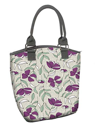 - Fit & Fresh McKinney Insulated Lunch Bag with Lunch on the Go Container, Ideal for Work School, Zips Closed, Isola Floral Plum