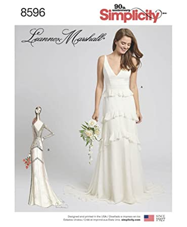 Leanne Marshall Wedding Dress Sewing Pattern Template // Patron de Costura para Vestido de Novia