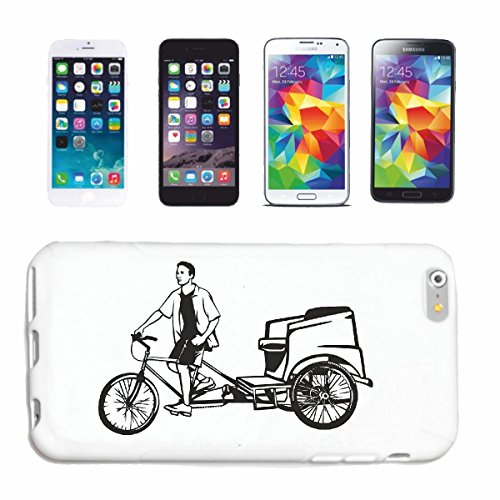 "cas de téléphone iPhone 7 ""SILHOUETTE VÉLO DE MONTAGNE DE BICYCLETTE REPARATION CYCLISME SPORT BIKE TOUR VELO SHIRT"" Hard Case Cover Téléphone Covers Smart Cover pour Apple iPhone en blanc"