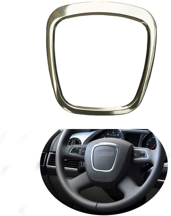 Alloy Silver Steering Wheel Center Ring Cover trim For Audi A3 A4 A5 A6 A7 Q3 Q5