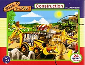 Construction Jumbo Floor Puzzle by Wood 'N Things