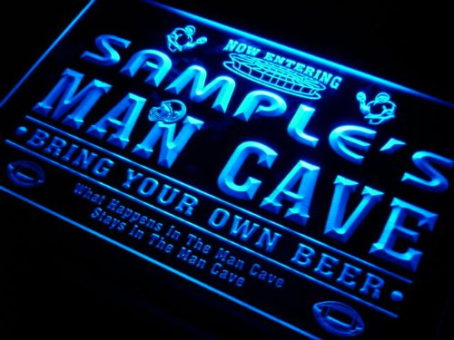 qa1564-b Christian's Man Cave Football Bar Neon Sign