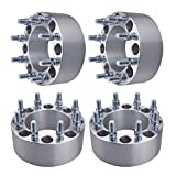 GDSMOTU 8 Lug Dodge Ford Wheel Spacers, 4pc 8x6.5 Wheel Spacers Adapters 3'' with 9/16'' Studs for Dodge Ram 2500 3500,Ford F250 F350 E250 E350 ECONOLINE(Fit 9/16'' Studs Vehicles Only)