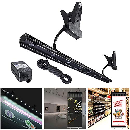 (Yescom 9W LED Light for Retractable Roll Up Banner Stand Adjustable IP65 Waterproof Clip On Display Lamp Trade Show)