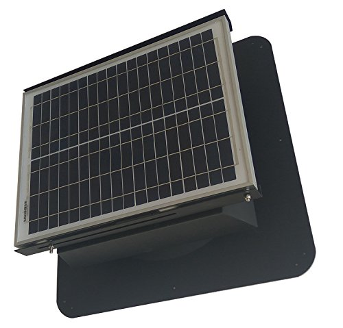 Solar Attic Exhaust Fan Ventilation Roof Mounted 1300 CFM Vent Ventilator Green ()