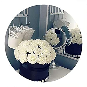 Tuyhnm 25 Heads 8CM Artificial PE Foam Rose Flowers Bride Bouquet Home Wedding Decor 109