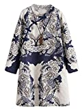 This cloth is women's 2019 retro new spring fall long sleeve linen dress with pockets. Melodious style, pure texture, encounter romantic design, loose and simple style This unique designed tunic/dress makes you more attractive, charming, fash...
