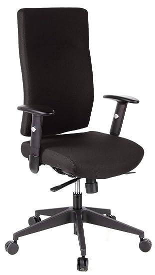 hjh OFFICE Pro-Tec 300 Silla de Oficina, Poliéster, Negro, 38x88x62 cm