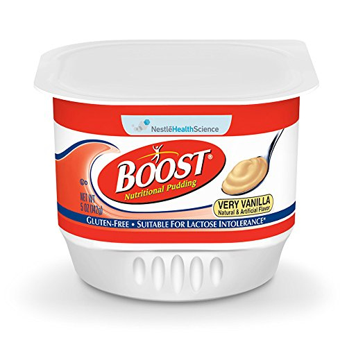 Boost Nutritional Pudding, Very Vanilla, 5 oz Cups, 48 Pack