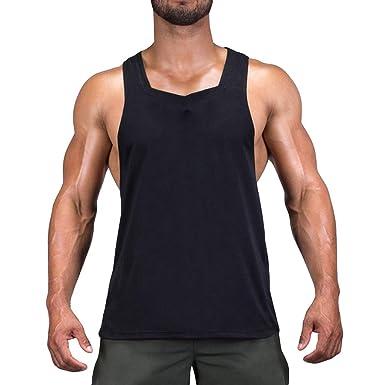 a0b76bd98e2ff Amazon.com  Sleeveless Gym Shirts for Men