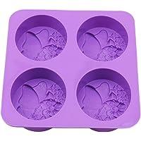 Flybloom Silikonformen 4 Löcher Schmetterling Form DIY Fondant Schokolade Sugarcraft Plätzchenform Kuchen Dekor Backen Werkzeuge Seifenform