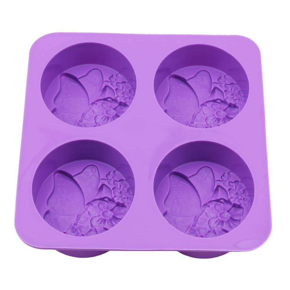 Flybloom Silikonformen 4 Löcher Schmetterling Form DIY Fondant Schokolade Sugarcraft Plätzchenform Kuchen Dekor Backen Werkzeuge Seifenform HeShengFactory