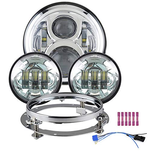 7 inch Led Headlight with 2pcs 4-1/2