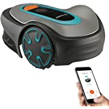 GARDENA SILENO Minimo - Fully Automatic Robotic Lawnmower with Bluetooth App, quietest in The Market, Boundary Wire Included,