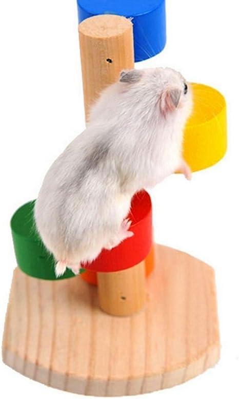 Spaufu Hamster Toy Rainbow escalada juguete para hámsters ...