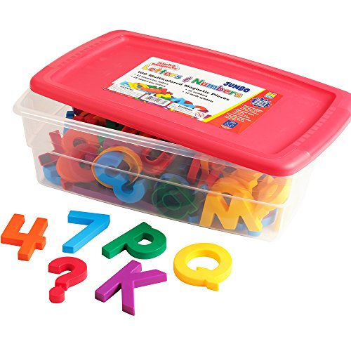 (Educational Insights Multicolored Jumbo AlphaMagnets & MathMagnets, 100 Pieces)