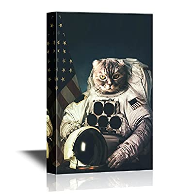 Beautiful Cat Astronaut - Canvas Art