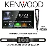 Kenwood Excelon DDX9905S HD Screen DVD Receiver with Apple CarPlay and Android Auto with License Plate Back Up Camera Included and a SOTS Lanyard
