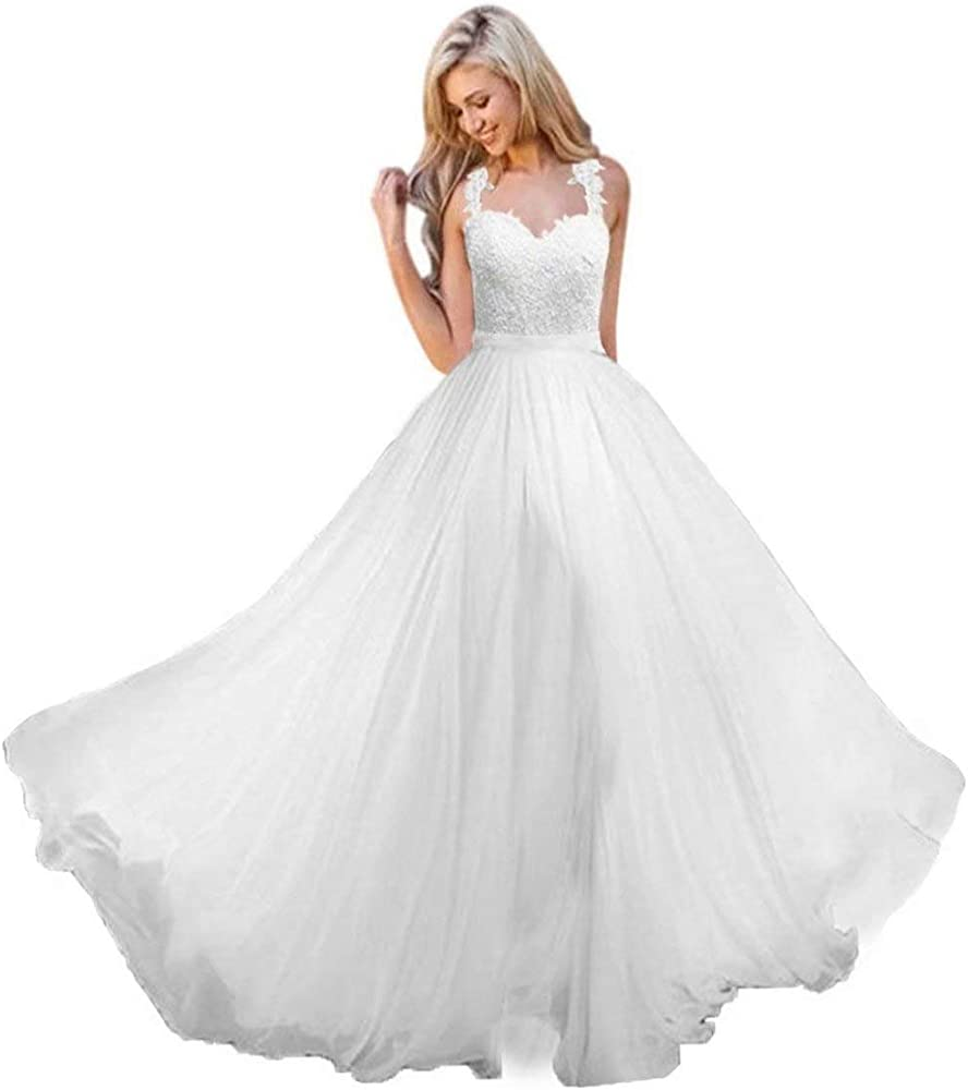 Andybridal Womens Ball Gown Elegant Off Shoulder Sweetheart Appliques Lace Wedding Dress Bridal Gown
