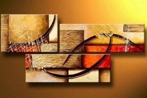 5pics Beautiful Girl in Nude Large Modern Abstract 100% Hand Painted Oil Painting on Canvas Wall Art Deco Home Decoration (Unstretch No Frame)