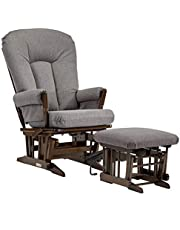 Dutailier Maria 0403 Glider Multiposition-lock Recline with Nursing Ottoman Included