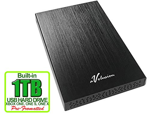 Avolusion HD250U3 1TB USB 3.0 Portable External Gaming Xbox One Hard Drive (Xbox Pre-Formatted) - Black w/2 Year Warranty (Usb External Hard Drive Xbox One)