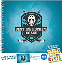 ICE HOCKEY GIFTS - Recognition Award Booklet for Being the Best Ice Hockey Coach | Includes Certificate, Quotes, Frames, Stickers and more | Perfect Gift Idea for Players, Sport Fans and Team Coaches