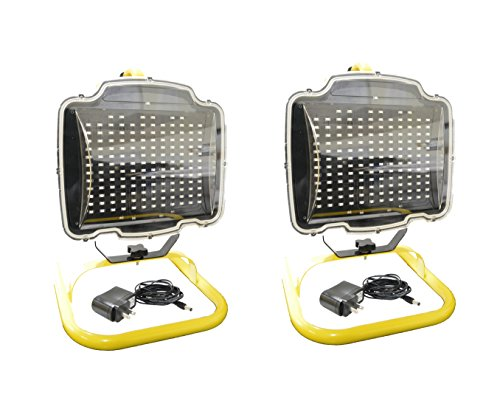 2-Pack Portable Light Rechargeable Work Light (150 LED) by EZ Travel Collection