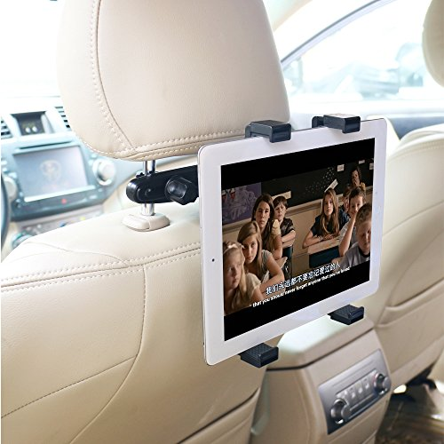 OHLPRO Car Headrest Tablet Mount Holder,Backseat Seat Universal Tablet Holder for Car Mount 360° Adjustable Rotating For iPad, iPad Air, iPad Mini, Samsung Galaxy 7