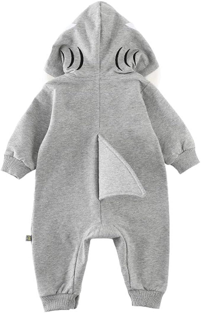 Fairy Baby Baby Jungs M/ädchen 3D Cartoon Hai Kost/üm Spielanzug mit Kapuze Overall Kleider
