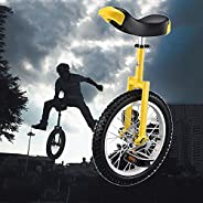 Unicycle for Adults-Beginner-Men, Training Style Cycling with Stand Release Saddel Seat Balance Mountain Exerc