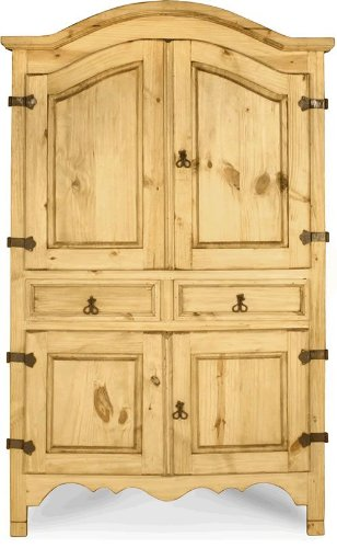 Sierra Armoire in an Old World Look by Toscana Home Interiors
