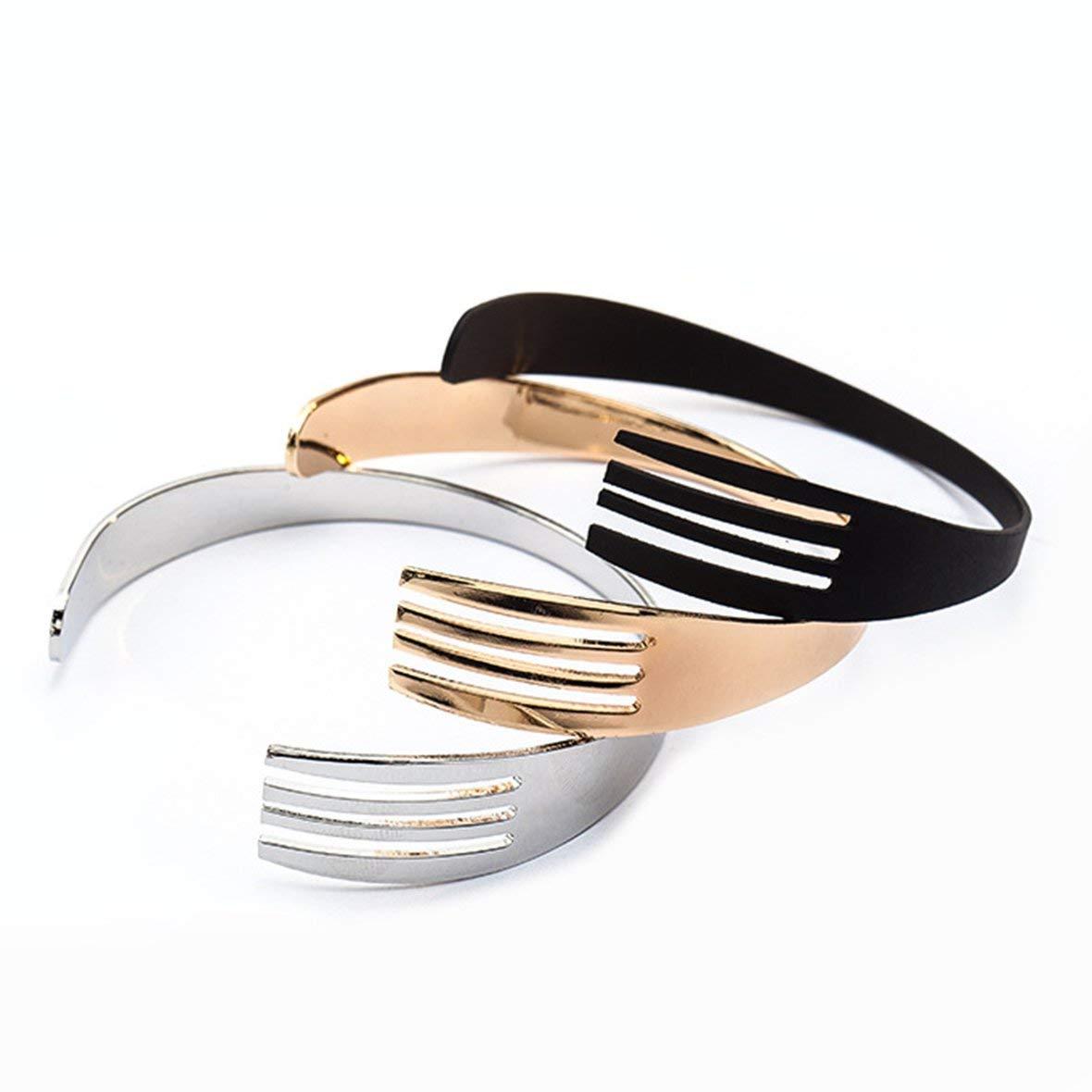 Heaviesk Personalidad Simple Pulsera de Cubiertos Occidentales Pulsera Masculina de Tenedor de Moda para Hombres Pulsera Simple y cl/ásica