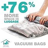 Space Saver Bags No Vacuum Needed/ Compression Bags 4 Large + 4 Medium/ Travel Vacuum Bags For Clothes/ Get Bonus Inside