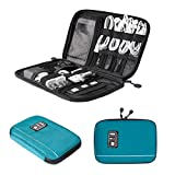 BAGSMART Travel Universal Cable Organizer Electronics Accessories Cases For Various USB, Phone, Charge and Cable, Dark Blue