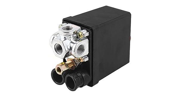 Válvula de control de aire de la bomba del compresor Interruptor de presión 175PSI 4 puertos: Amazon.es: Industria, empresas y ciencia