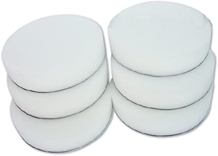 6x In White 180mm Polishing Pad Soft Velcro For The Perfect Paint Finish Work Car Paint Treatment Auto