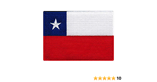us seller small Chile Chilean FLAG sew or Iron On Patch 1650