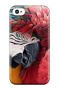 For Iphone 4/4s Premium Tpu Case Cover Best Friends Macaws Protective Case