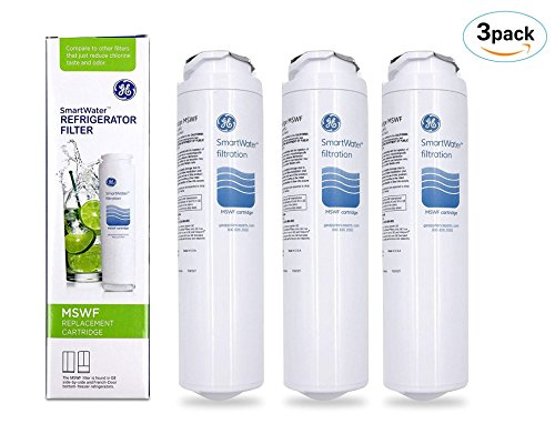 3 PACK GE MSWF SmartWater Refrigerator Filter Replacement Cartridge Brand OEM by SmartCaseNow