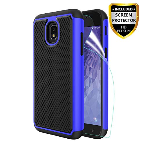 Innge Samsung Galaxy J3 2018 Case,J3 Achieve Case,J3 Star Case,Amp/Express Prime 3,Sol 3,J3V J3 V 3rd,J3 Orbit Case w/Screen Protector,[Shockproof] Dual Layer Armor Defender Protective Case Cover,Blue