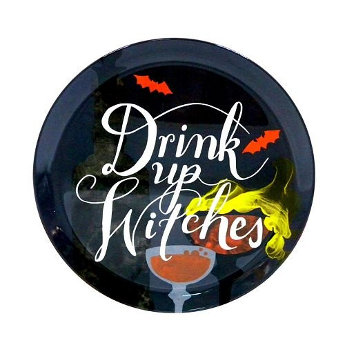 Halloween Drink Up Witches 12-in. Melamine Plate -
