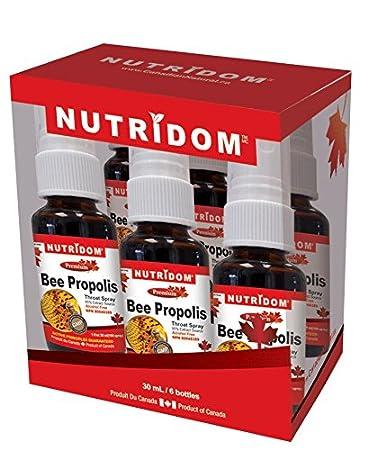 Amazon com: NUTRIDOM Bee Propolis Spray 30ml x 6 bottles