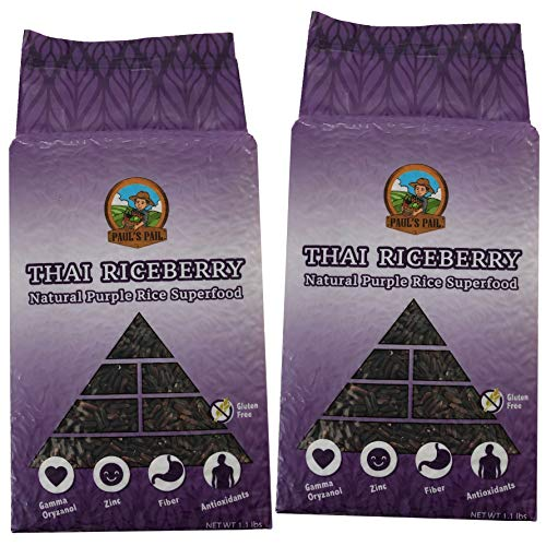 - Paul's Pail Thai Riceberry Natural Purple Rice Superfood (2 pack)